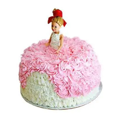 Barbie Doll Delicious Cake