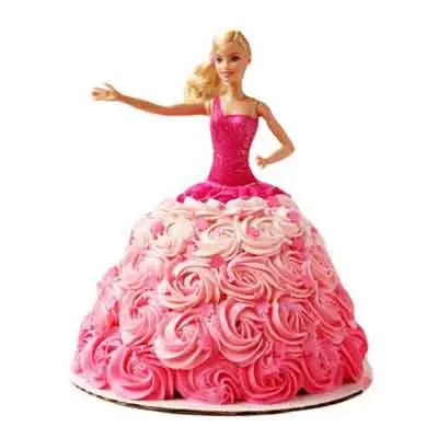 Barbie Doll Design Cake