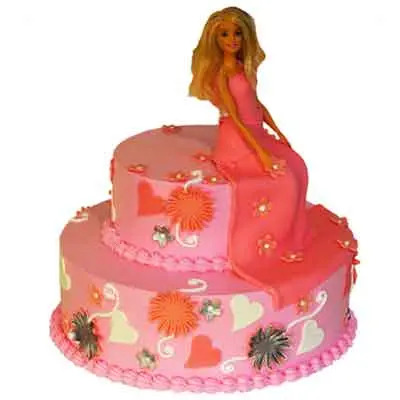 Barbie Doll Tier Cake