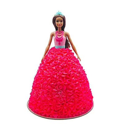 Barbie Sparkle Pink Dress Doll Cake