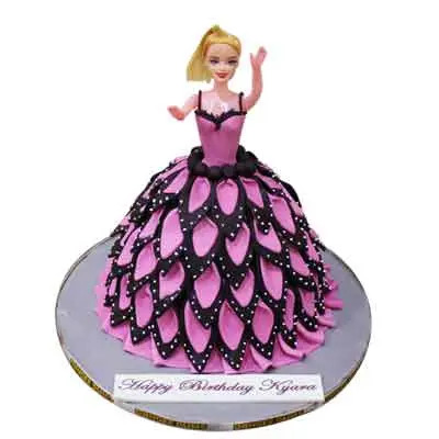Remarkable Barbie Birthday Cake For Girl At Best Price Free Shipping Personalised Birthday Cards Veneteletsinfo