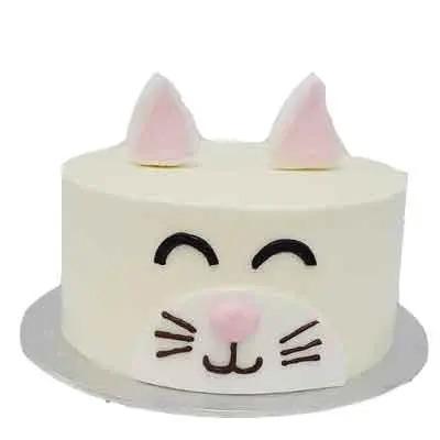 Pineapple Cat Theme Cake