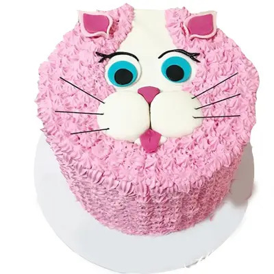 Strawberry Cat Cake
