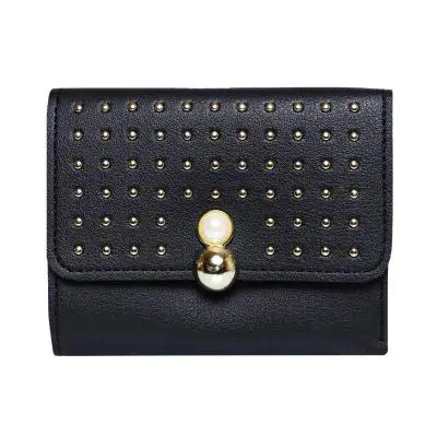 Women Designer Party Hand Wallet Black
