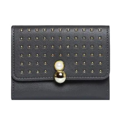 Women Designer Party Wallet Gray