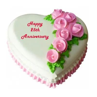 25th Wedding Anniversary Cake Silver Jubilee Anniversary Cake