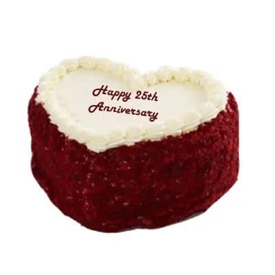 Silver Jubilee Red Velvet Anniversary Cake