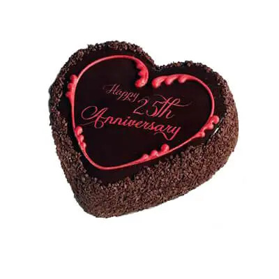 25th Anniversary Chocolate Truffle Cake
