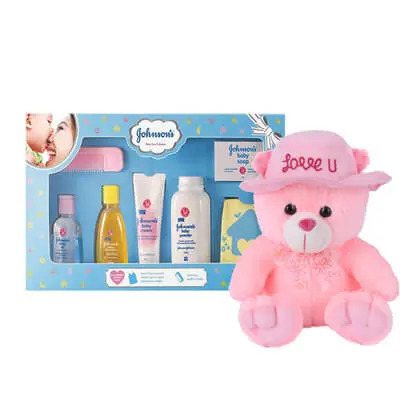 Johnson Baby Care Gift Pack with Teddy