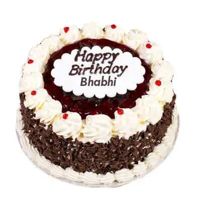 Birthday Black Forest Cake for Bhabhi
