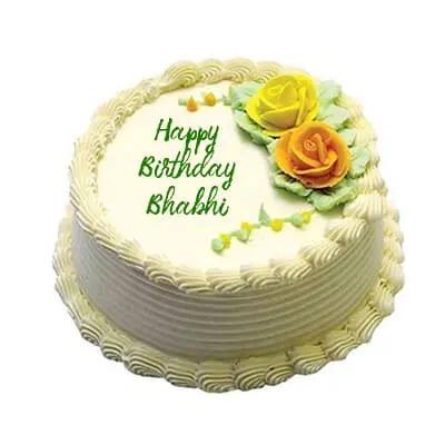 Magnificent Send Birthday Cake For Bhabhi Order Happy Birthday Cake For Bhabhi Personalised Birthday Cards Paralily Jamesorg