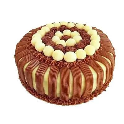 Chocolate Layered Butterscotch Cake