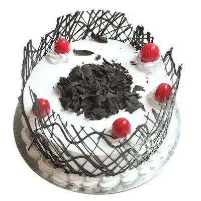 Black Forest Cherries Cream Cake
