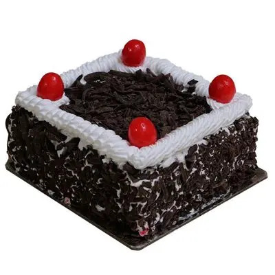 Black Forest Square Shape Cake