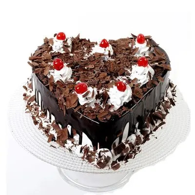 Hearts Black Forest Cake