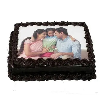 Chocolate Photo Cake Square