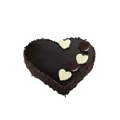 Exotic Heart Shape Chocolate Cake