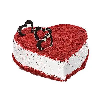 Glorious Red Velvet Heart Cake