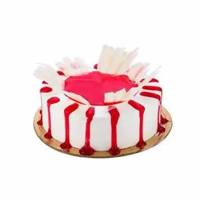 Eggless Sizzling Strawberry Cake
