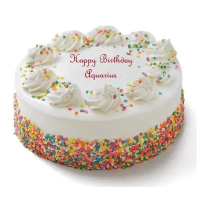 Aquarius Vanilla Cake