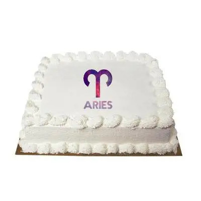 Aries Square Vanilla Cake