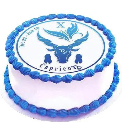 Vanilla Cake For Capricorn Zodiac Sign