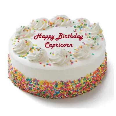 Capricorn Vanilla Cake