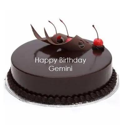 Chocolate Cake For Gemini Zodiac Sign