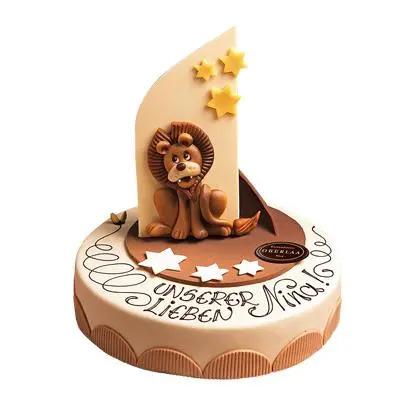 Fondant Cake For Leo