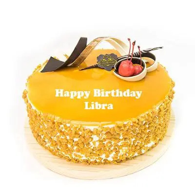 Libra Butterscotch Birthday Cake