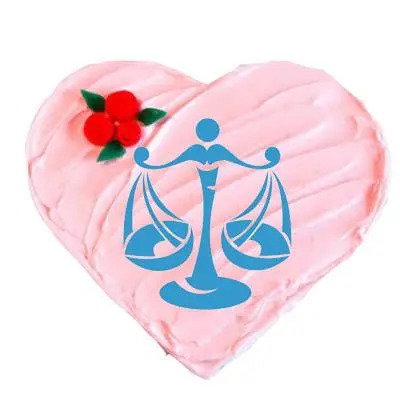 Heart Shape Libra Strawberry Cake