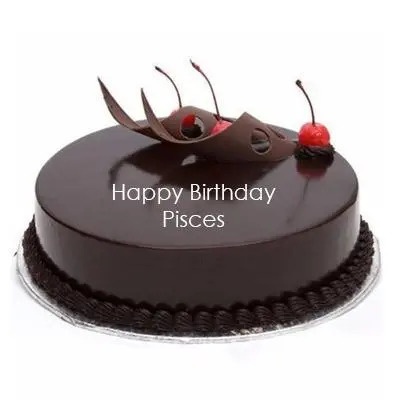 Pisces Chocolate Truffle Cake