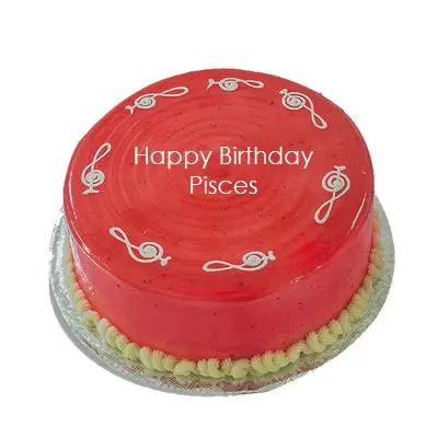 Pisces Strawberry Cake