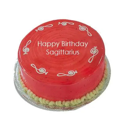 Sagittarius Strawberry Cake