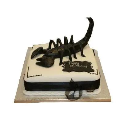 Strawberry Scorpio Fondant Cake