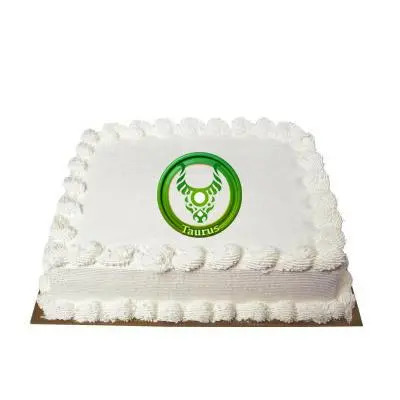 Taurus Square Vanilla Cake