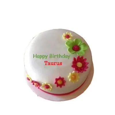 Taurus Pineapple Flower Cake