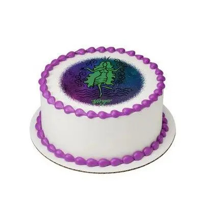 Pineapple Virgo Round Cake