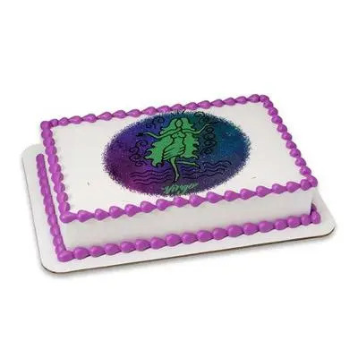 Pineapple Virgo Rectangular Cake