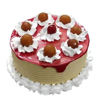 Gulab Jamun Pineapple Cake
