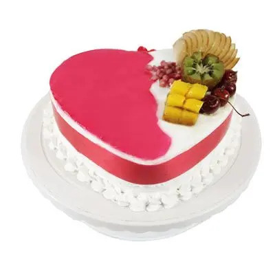 Heart Shape Pineapple Fruit Cake
