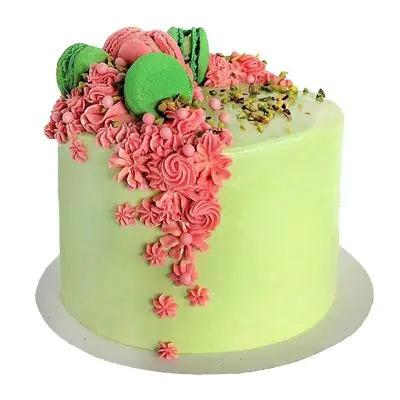 Pistachio Fondant Cake