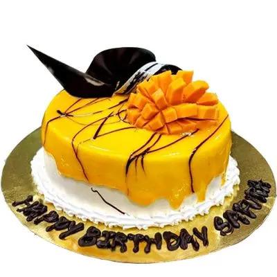 Happy Birthday Mango Cake
