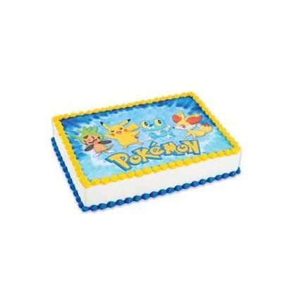 Pineapple Pokemon Square Cake
