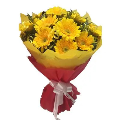 Beautiful Yellow Gerbera Bouquet