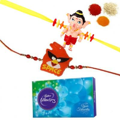 2 Kids Rakhi With Cadbury Celebration