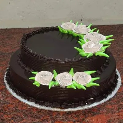Eggless Super Delicious 2 Tier Chocolate Cake