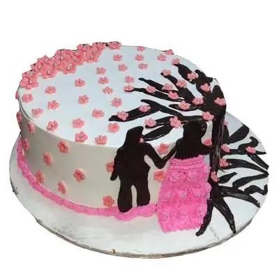 Eggless Super Delicious Anniversary Strawberry Cake
