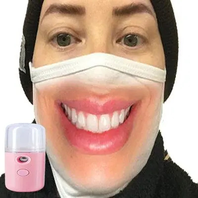 Smiling Face Mask with Spray Machine