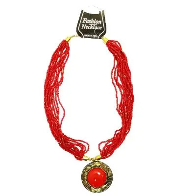 Red Small Pearl Necklace